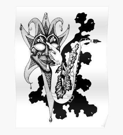 Understanding Music surreal ink pen drawing Poster