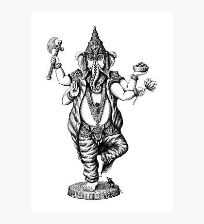 God Ganesha ink pen drawing Photographic Print