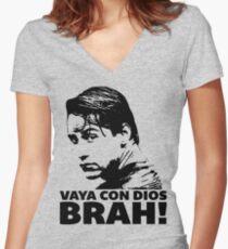 Vaya Con Dios Brah! Women's Fitted V-Neck T-Shirt