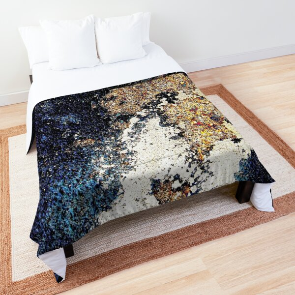 Map of an alien planet abstract Comforter