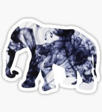 elephant - ink swirl Sticker