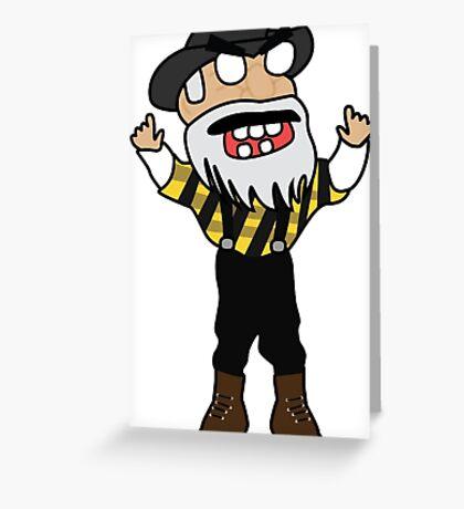 angry zombie yosef Greeting Card