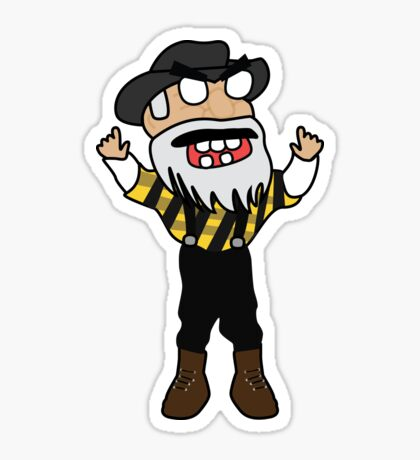 angry zombie yosef Sticker