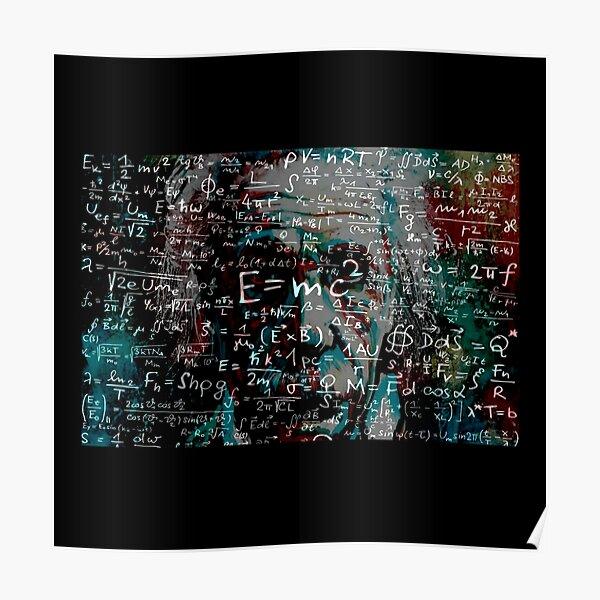 Abstract Einstein Poster