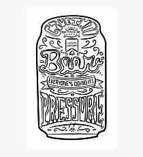 Beer Pressure Photographic Print
