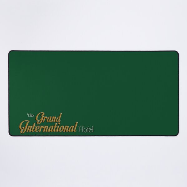 The Grand International Hotel by Jeff Lee Johnson Official Souvenirs Desk Mat