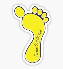 Down Syndrome Awareness Footprint Sticker