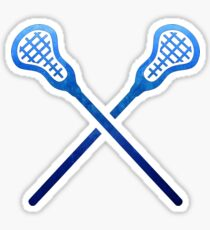 Lacrosse-Stock dunkelblau Sticker
