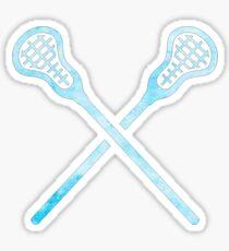 Lacrosse Stick Light Blue Sticker