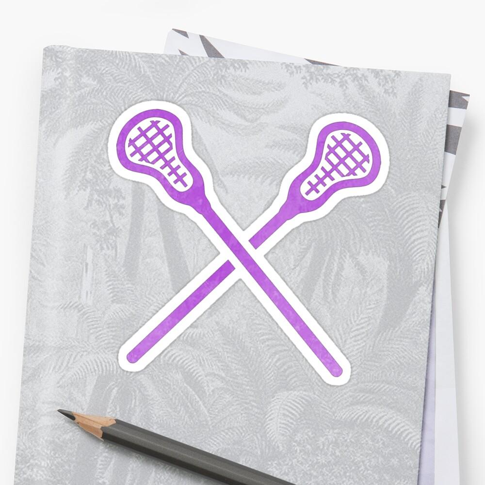 Lacrosse Stick Lila Sticker
