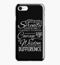Serenity Prayer - Chalkboard iPhone Case/Skin
