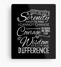 Serenity Prayer - Chalkboard Metal Print