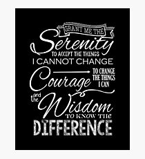 Serenity Prayer - Chalkboard Photographic Print