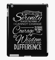 Serenity Prayer - Chalkboard iPad Case/Skin
