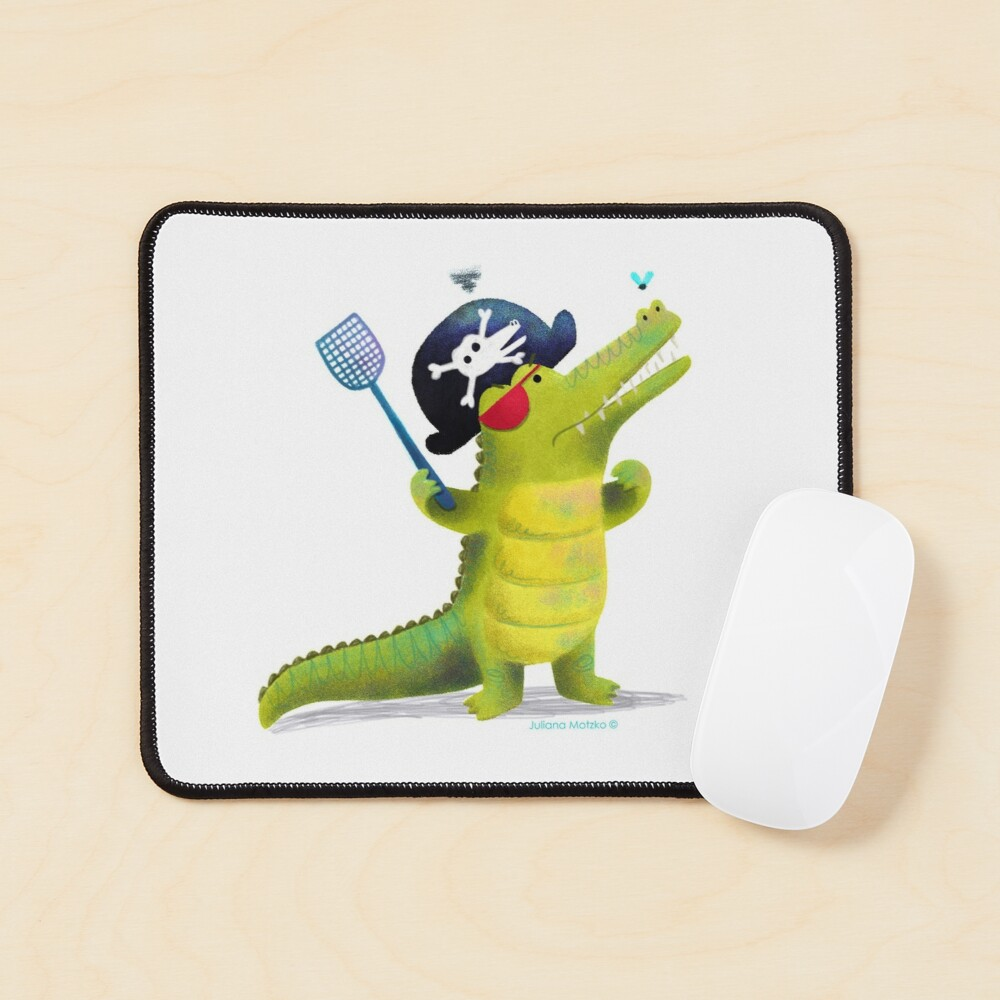 Captain Pirate Crocodile Mouse Pad