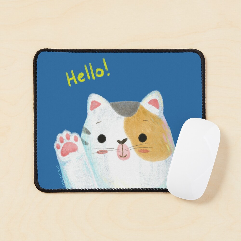 Hello Cat Mouse Pad
