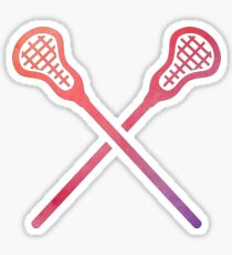 Lacrosse Stick Multicolored Sticker