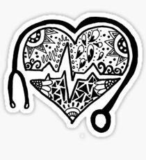 Zentangle Nursing Heart Sticker