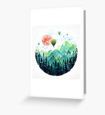 Roundscape Greeting Card