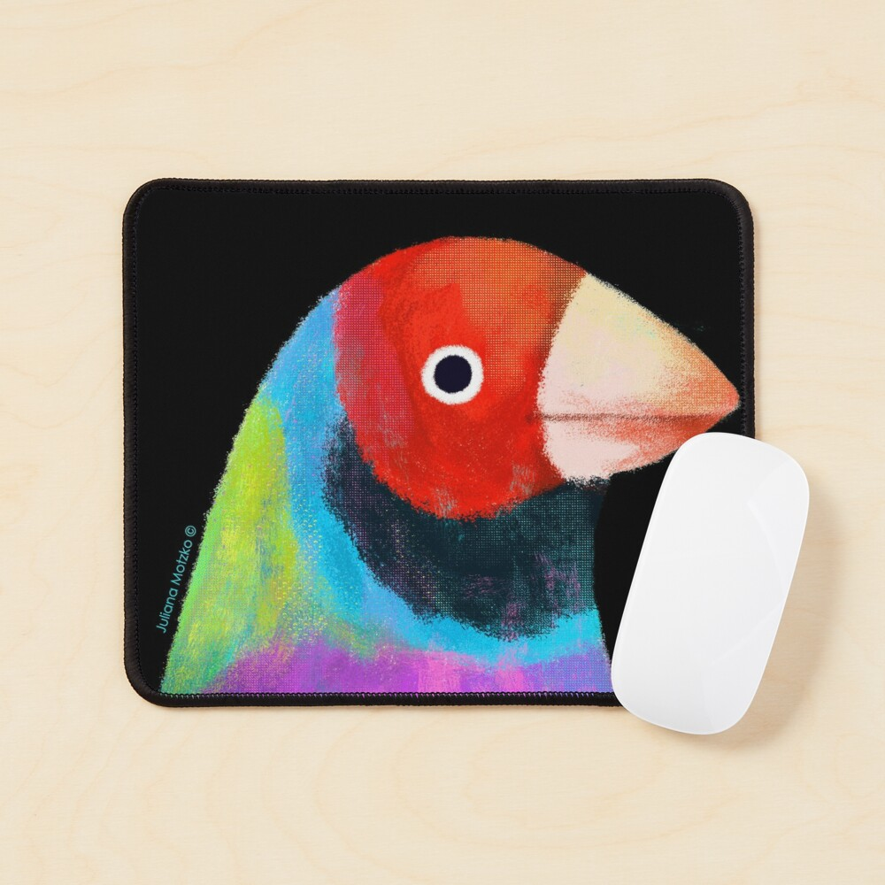 Gouldian Finch Bird Mouse Pad