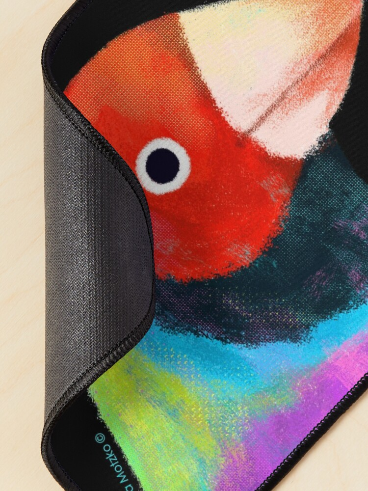 Alternate view of Gouldian Finch Bird Mouse Pad