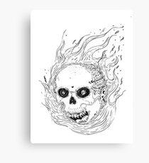Spicy Skull Canvas Print
