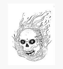 Spicy Skull Photographic Print
