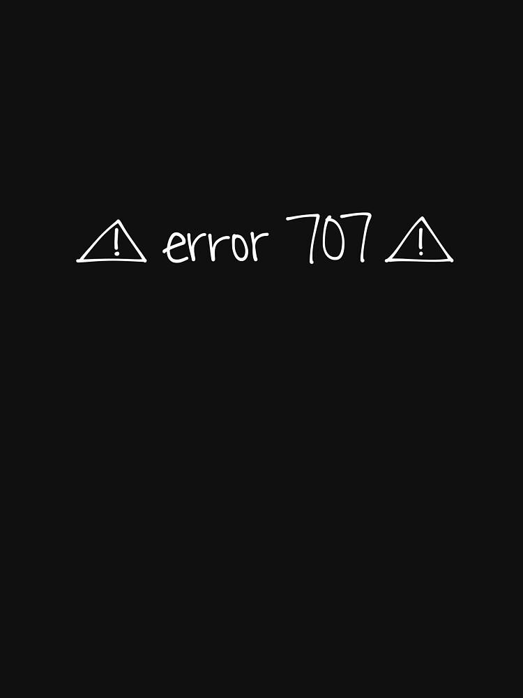 error 707\