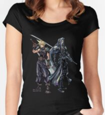 Cloud and Sephiroth Women's Fitted Scoop T-Shirt