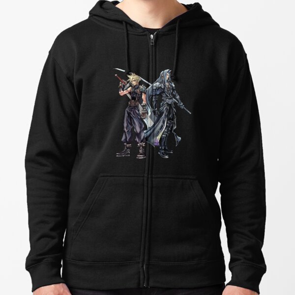 Cloud and Sephiroth Zipped Hoodie