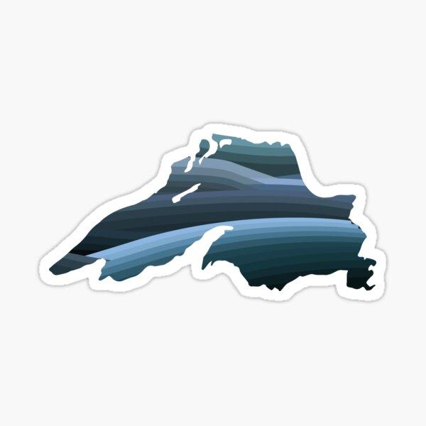 Lake Superior Waves Sticker