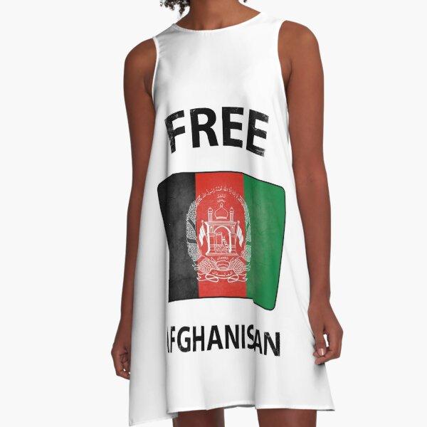 Free Afghanistan A-Line Dress