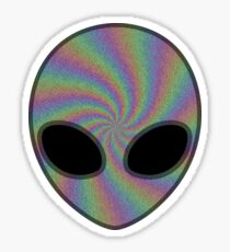 Rainbow Alien 2 Sticker