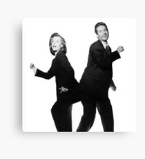 X Files // They boogie Canvas Print