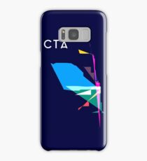 Abstract CTA Train Lines Samsung Galaxy Case/Skin