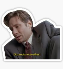 X Files // Paranoia Intensifies Sticker