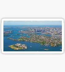 Sydney Panorama from the Air Sticker