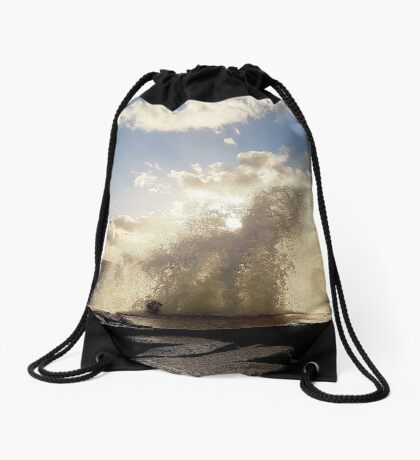 Stormy start to October Drawstring Bag