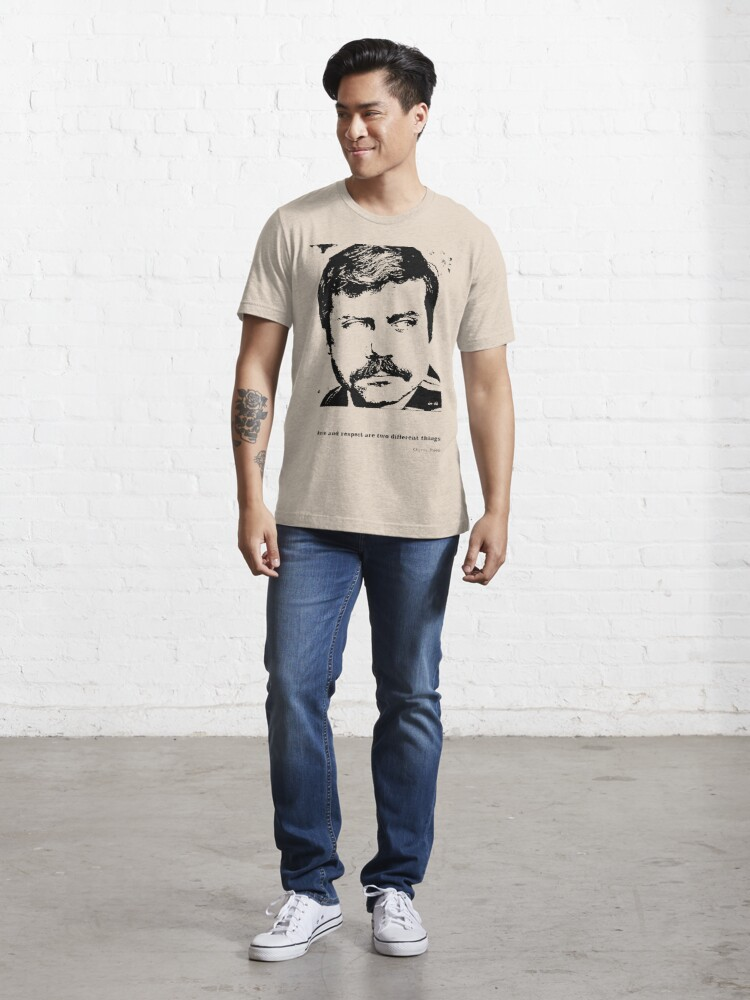Alternate view of Oliver Reed Awe & Respect Essential T-Shirt