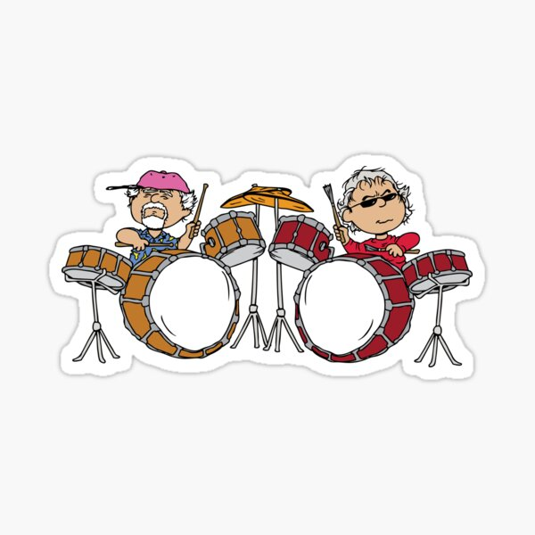 Rhythm Devils Mickey and Billy Gratenuts Dead and Co Sticker