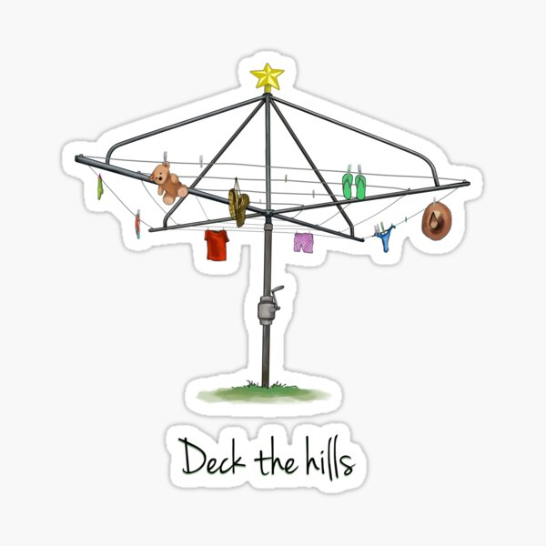 DECK THE HILLS - LAUNDRY EDITION Sticker