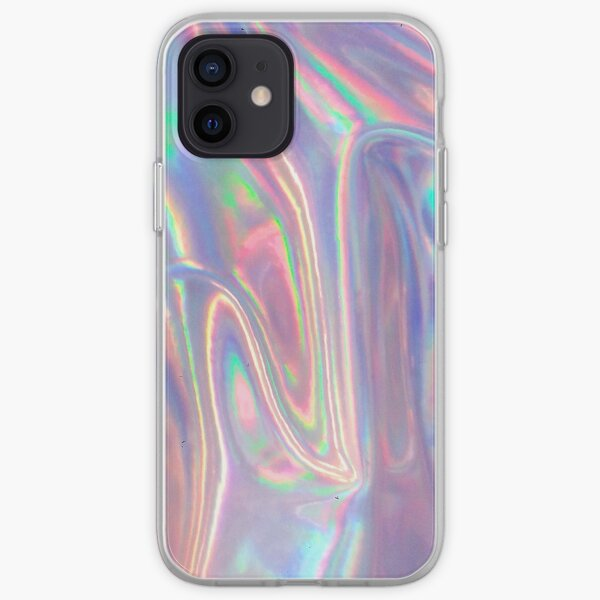 Holographic waves in purple iPhone Soft Case