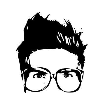 Joey Graceffa SIlhouette Head by MBroadbridgee