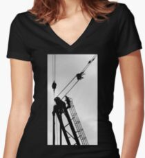 Construction site Women's Fitted V-Neck T-Shirt