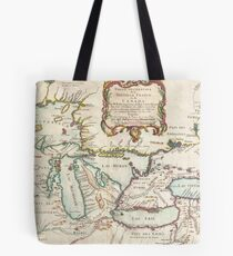 Vintage Map of The Great Lakes (1755) Tote Bag
