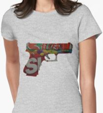 Armed and Dangerous Womens Fitted T-Shirt