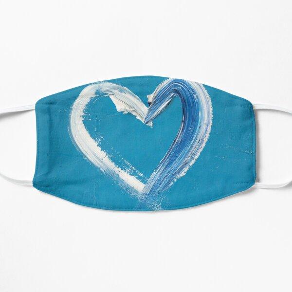 My Heart On Carolina Blue Flat Mask