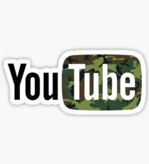 YouTube Camouflage Logo Sticker