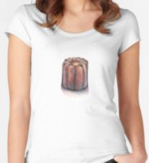 Canelé illustration Women's Fitted Scoop T-Shirt