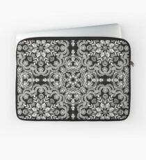 Black & White Folk Art Pattern Laptop Sleeve